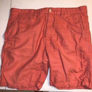 H&M SIZE 34 MENS shorts orange